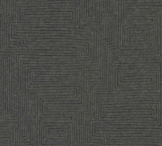 Vinyl Wallpaper Modern Graphic anthracite 37171-3