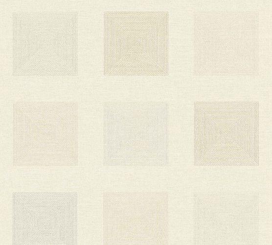 Vinyltapete Kassette Grafik creme silber 37172-3 online kaufen