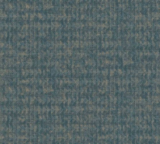 Vinyl Wallpaper Ethno Mosaic blue bronze 37173-1