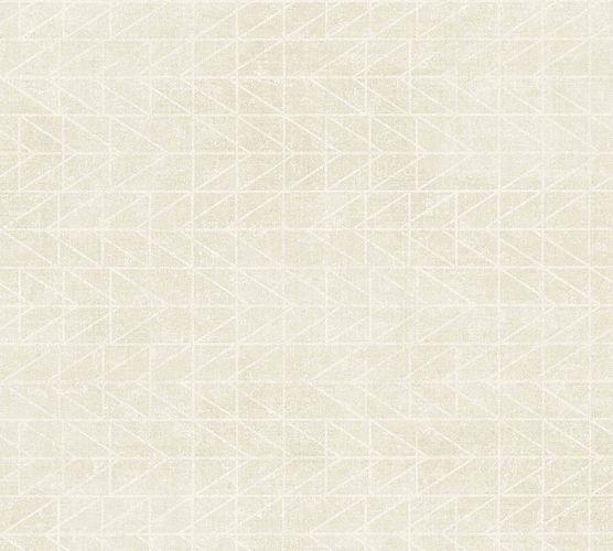 Vinyltapete Boho Zick-Zack hellgrau weiß 37174-2