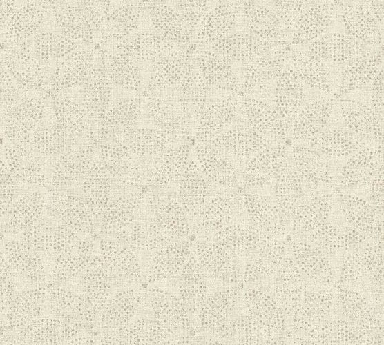 Vinyl Wallpaper Ethno Flowers cream grey 37176-6 online kaufen