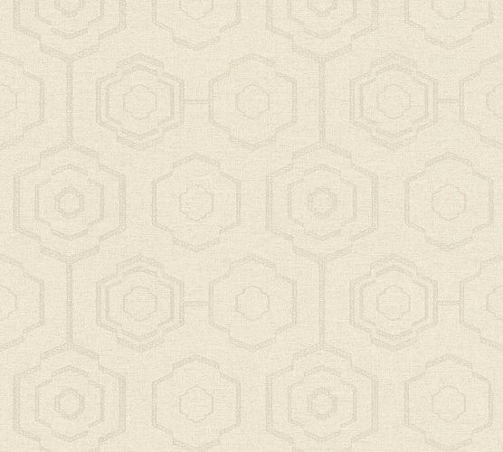 Vinyltapete Ethno Retro creme grau Ethnic Origin 37177-2