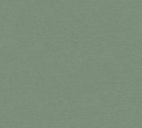 Vinyl Wallpaper Linen Look green A.S. Création 37178-7