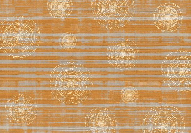 Digitaldruck Vlies-Fototapete Kreise orange grau DD116591 online kaufen