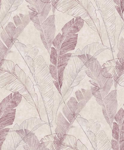 Vinyl Wallpaper Banana Leaves Floral grey violet MY2201 online kaufen