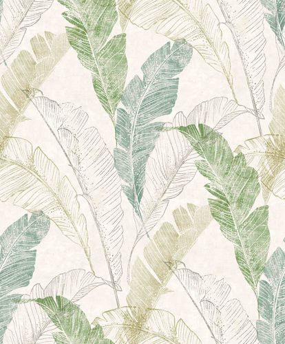 Vinyl Wallpaper Banana Leaves Floral green Myriad MY2204 online kaufen