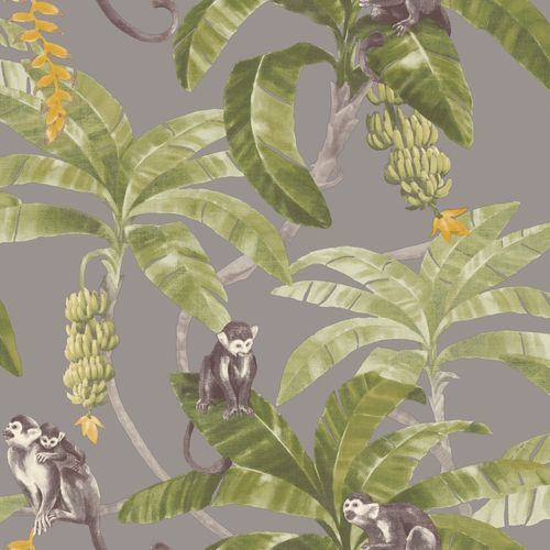 Vinyl Wallpaper Jungle Apes grey green Myriad MY2402 online kaufen