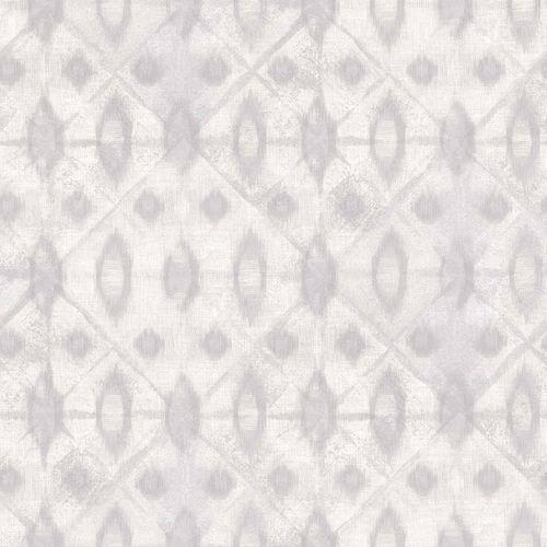 Vinyltapete Batikmuster weiß grau Myriad MY3001