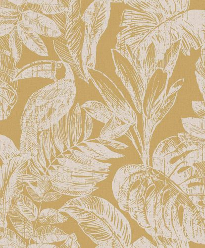 Vinyl Wallpaper Toucans Jungle yellow white MY3402 online kaufen