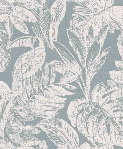 Vinyl Wallpaper Toucans Jungle grey green white MY3403 online kaufen