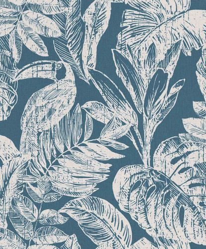 Vinyl Wallpaper Toucans Jungle blue white Myriad MY3404 online kaufen