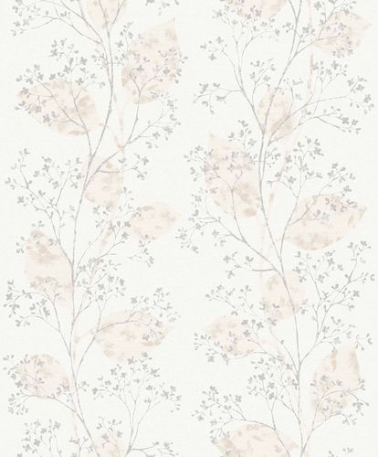 Non-Woven Wallpaper Floral Branches grey Metallic ON2001 online kaufen