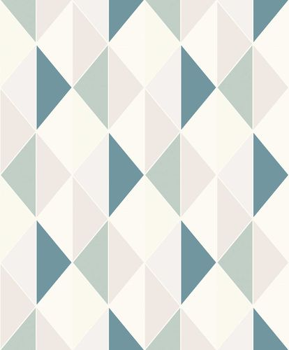 Non-Woven Wallpaper Triangles Graphic blue Glitter ON3102 online kaufen