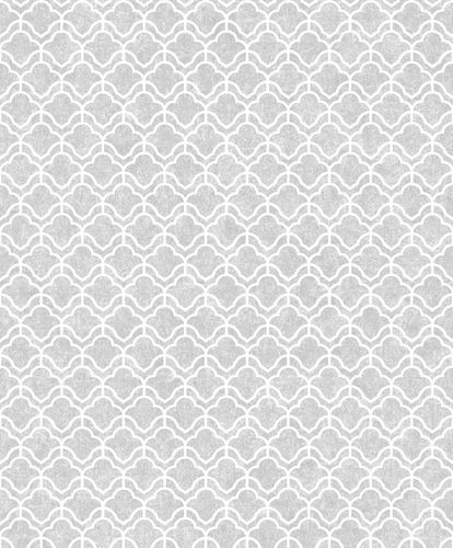 Non-Woven Wallpaper Graphic silver white Metallic ON3303