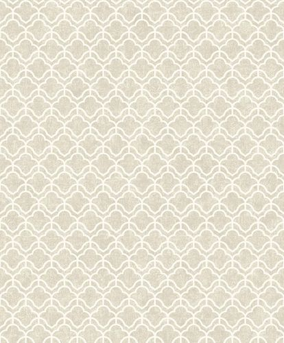 Non-Woven Wallpaper Graphic beige white Metallic ON3304 online kaufen