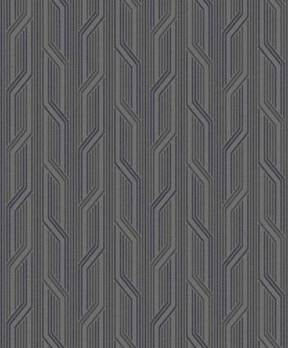 Non-Woven Wallpaper Stripes black grey Metallic ON4101 online kaufen