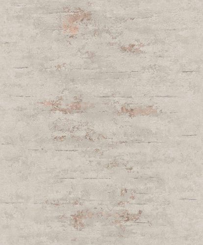 Non-Woven Wallpaper Concrete Patina grey Metallic ON4202