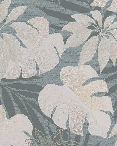 Non-Woven Wallpaper Leaves blue gold metallic 31601 online kaufen