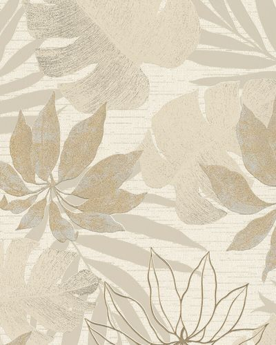 Non-Woven Wallpaper Leaves beige gold metallic 31602 online kaufen