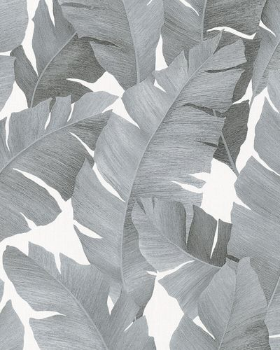 Non-Woven Wallpaper Banana Leaves silver metallic 31624 online kaufen