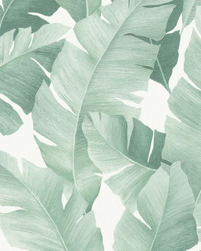 Non-Woven Wallpaper Banana Leaves white green 31650 online kaufen