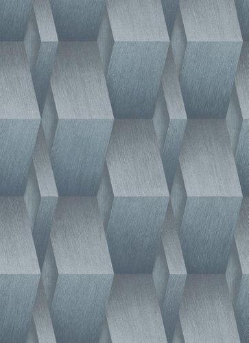 Tapete Guido Maria Kretschmer Balken blau Glanz 10046-08 online kaufen