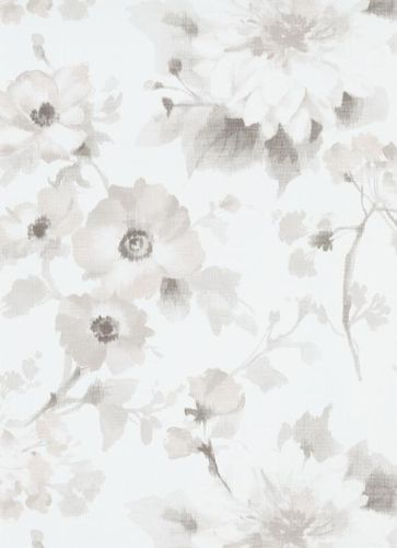 Wallpaper Guido Maria Kretschmer Flowers grey 10051-31
