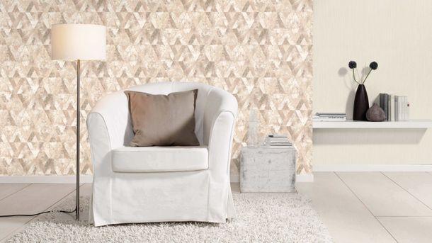 Non-Woven Wallpaper Rasch Triangles Used grey 535525 online kaufen