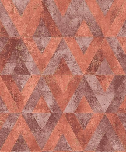 Non-Woven Wallpaper Rasch Triangles red purple 535549 online kaufen