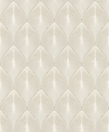 Non-Woven Wallpaper Rasch Leaves 3D white beige 535815 online kaufen