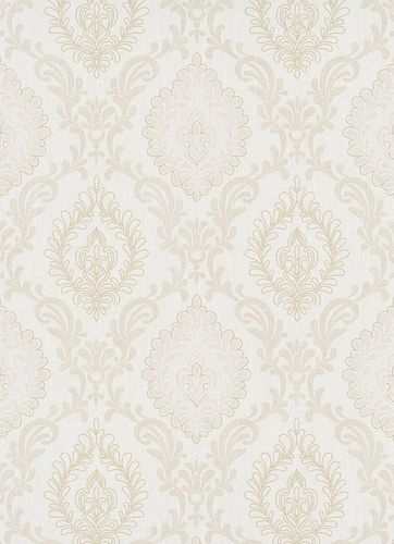 Non-Woven Wallpaper Ornament cream beige metallic 10030-02