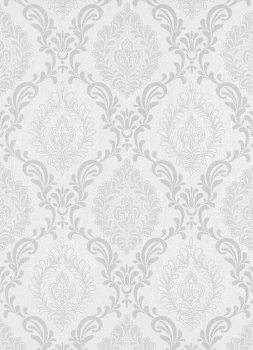 Non-Woven Wallpaper Ornament silver metallic 10030-10