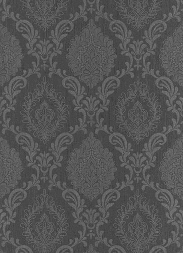 Non-Woven Wallpaper Ornament anthracite metallic 10030-15