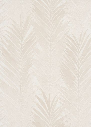 Non-Woven Wallpaper Palms Floral beige cream 10031-02