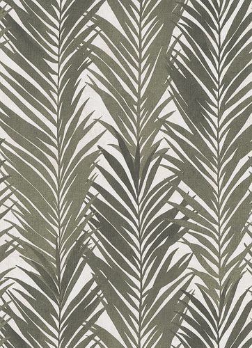 Non-Woven Wallpaper Palms Floral white green 10031-07