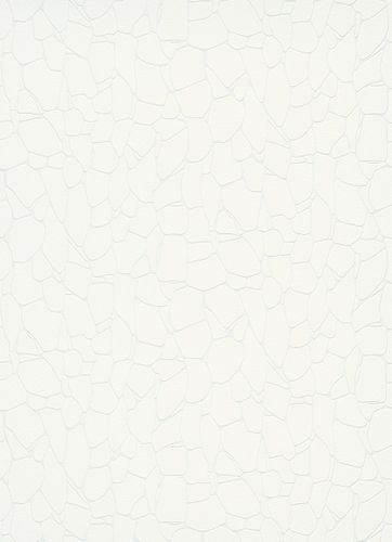 Non-Woven Wallpaper Stone Pattern white metallic 10032-01
