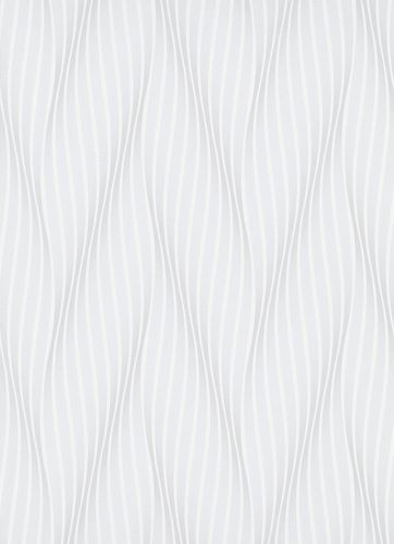 Non-Woven Wallpaper Waves grey white metallic 10033-10