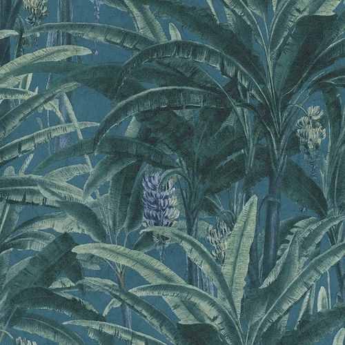 Non-Woven Floral Jungle blue green 36480-1 online kaufen