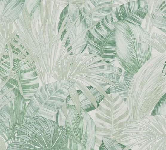 Non-Woven Jungle Botanical white light green 36820-2 online kaufen
