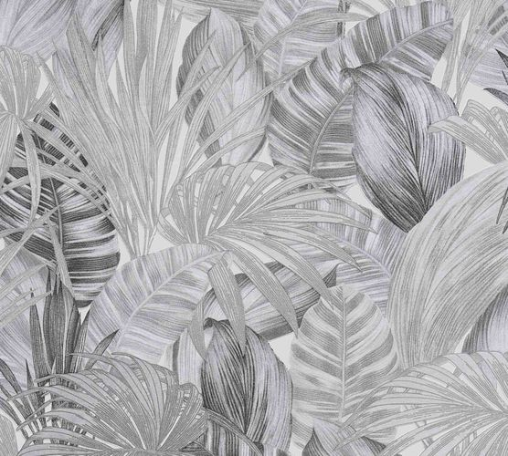 Non-Woven Jungle Botanical white anthracite 36820-3 online kaufen