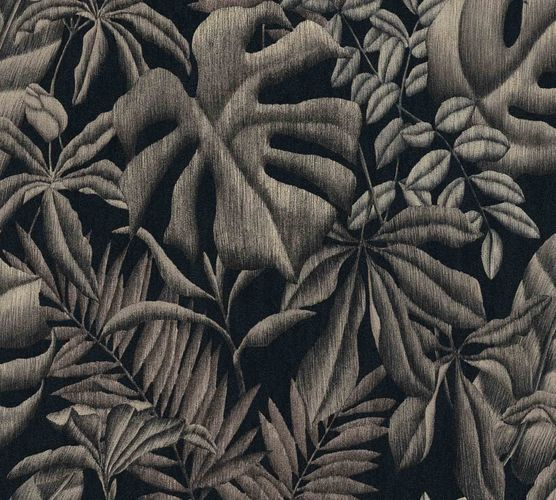 Non-Woven Botanical Leaves black grey beige 37033-2 online kaufen