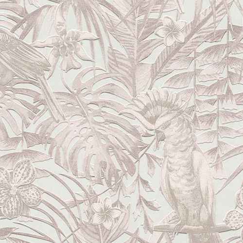 Non-Woven Jungle Birds white creme 37210-2 online kaufen