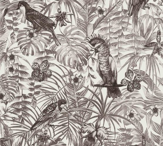 Non-Woven Jungle Birds white grey 37210-5 online kaufen