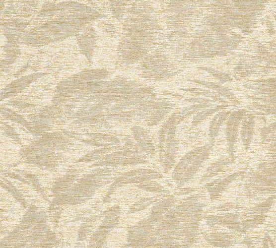 Non-Woven Floral Leavesdruck cremebeige gold 37219-1 online kaufen