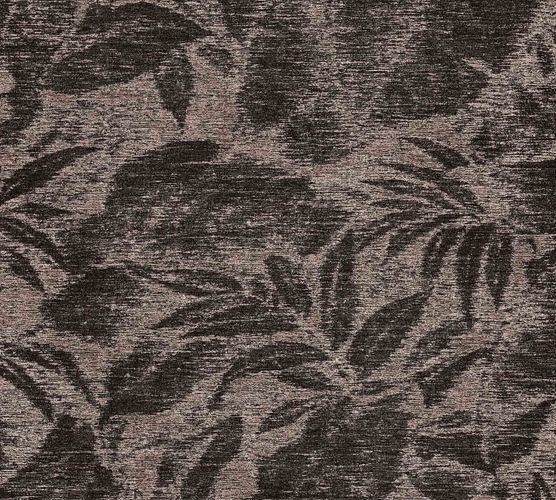 Non-Woven Floral Leavesdruck brown black 37219-2 online kaufen