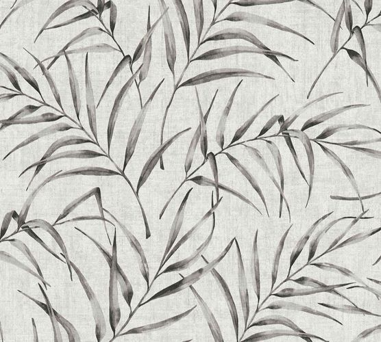 Non-Woven Fern Leaves Floral grey anthracite 37335-2 online kaufen