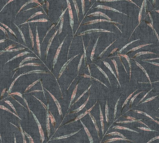 Non-Woven Fern Leaves Floral anthracite green 37335-5 online kaufen