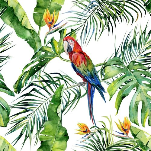 Photo Wallpaper Digital Floral Parrot white DD116614 online kaufen