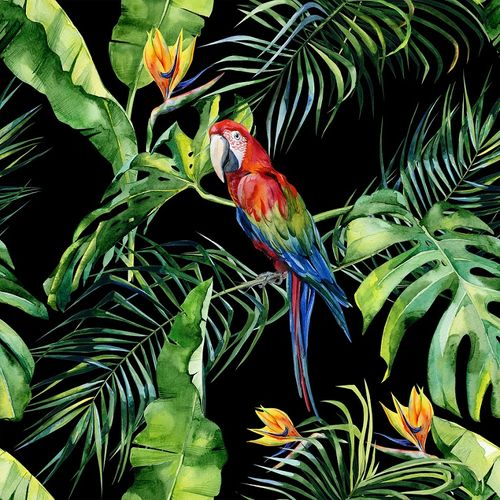 Photo Wallpaper Digital Floral Parrot black DD116615 online kaufen
