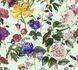 Non-Woven Wallpaper Jette Flowers blue green 37336-2 001